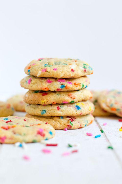 These Funfetti Pudding Cookies are soft and chewy with the  Mein Blog: Alles rund um die Themen Genuss & Geschmack  Kochen Backen Braten Vorspeisen Hauptgerichte und Desserts # Hashtag