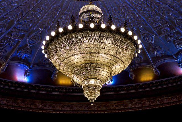 The chandelier at the restored Metropolitan Theatre in Winnipeg, Manitoba. Photo by Garry9600, via Flickr