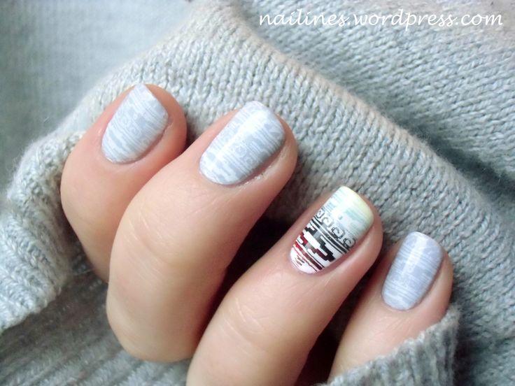 Einen wunderschönen Sonntag euch allen! Heute haben sich meine Nägel in grau weißem Ethno-Look gekleidet. Dazu auf dem Ringfingern Akzente in gelb, blau und schwarz auf weißem Untergrund. Ich habe …