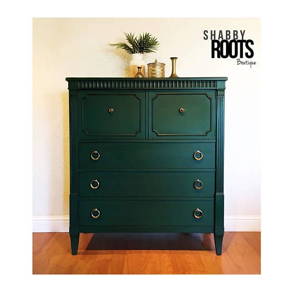 Emerald Green Painted Dresser Furniture Affiliate
