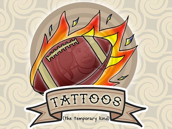 6 Football Party Favor Temporary Tattoos - Football Favors - Superbowl Party Favors #football #party #favors #homecoming #superbowl