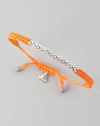 Lagos Macrame Caviar Bracelet, Orange