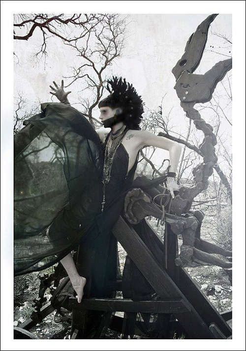 Dark Rocking Chair Pictorials - 'Behold the Pale Horseman' by Darla Teagarden (GALLERY)