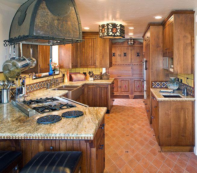 Arizona Hacienda Kitchen Cabinets: 30 Best Kitchen-spanish Colonial Images On Pinterest