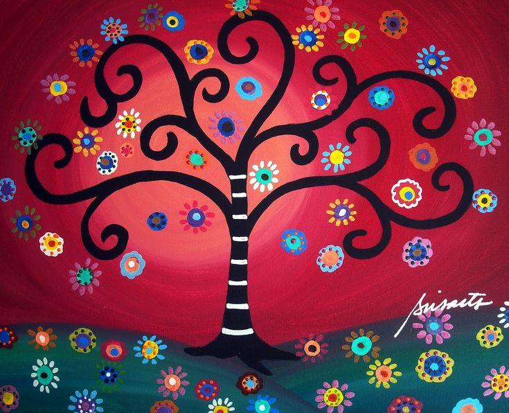 Gallery of Modern Folk Artist Pristine Cartera-Turkus: Mexican Folk Art Paintings by Pristine Cartera-Turkus