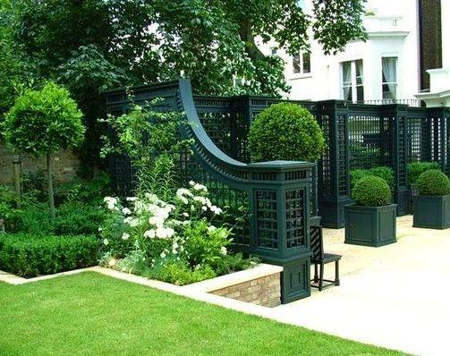 .Black fences