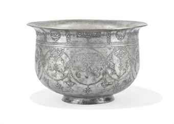 A TINNED-COPPER VESSEL, SAFAVID IRAN, 17TH CENTURY