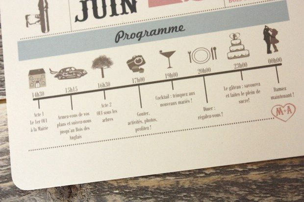 Programme { Mes invitations } | The Perfect Day by Janine