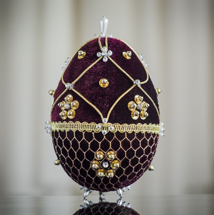 Faberge Egg - bordeaux 6