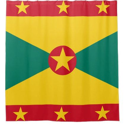 Grenada Flag Shower Curtain - shower curtains home decor custom idea personalize bathroom