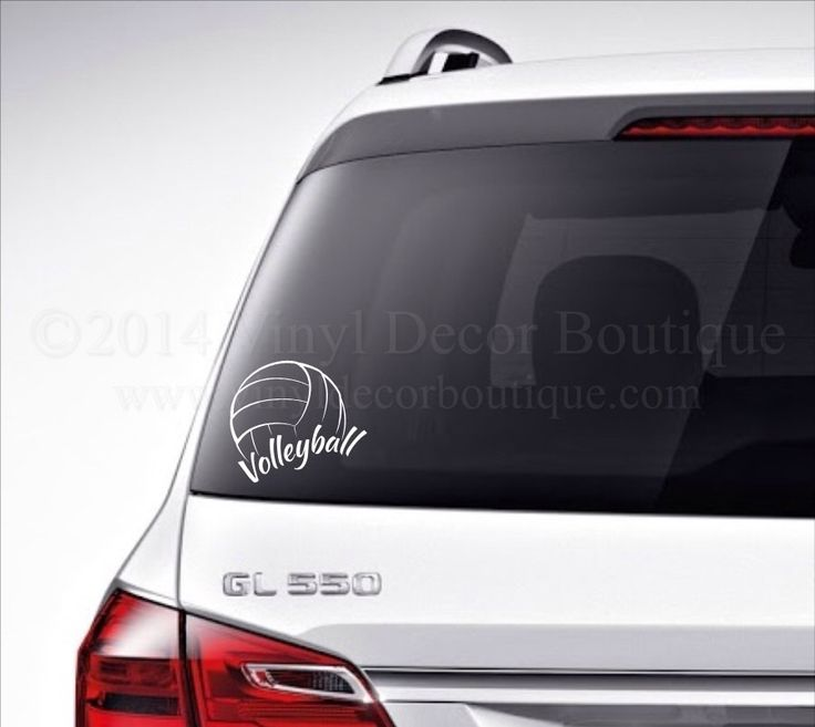 Volleyball car decal vinyl lettering bumper sticker high school volleyball vinyl decal by vinyldecorboutique on etsy