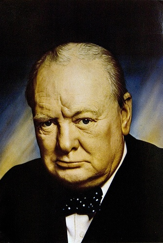 Winston Churchill postcard, photo by Yousuf Karsh