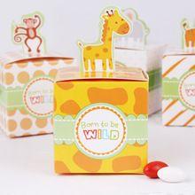 50 adet Sirk Hayvan Kağıt Şeker Kutuları Doğum Günü Parti Malzemeleri Süslemeleri Çocuklar Bebek Duş Olaylar Mutlu Goodie Çanta Hediye…