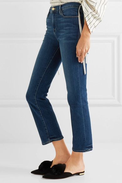 FRAME - Le High Cropped Skinny Jeans - Blue - 31