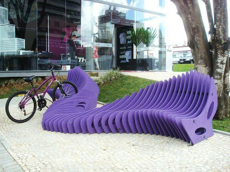Neat bench/bike rack in Brazil!