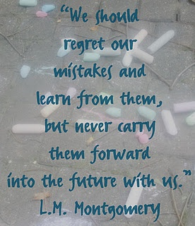 Quote about regret (L.M. Montgomery)