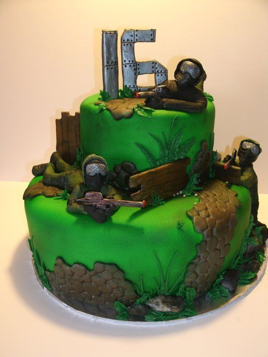 Airsoft Battle The Client Wanted A Cake In An Airsoft