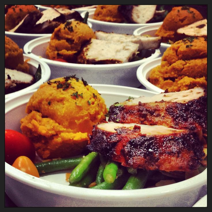 Healthy Meals Delivered Miami Paleo Meal Service Miami Paleo Diet Meals Delivered Miami CrossFit Miami Gourmet Prepared Meals Miami   Roasted Free Range Turkey Breast, Mashed Orange & Cinnamon Infused Sweet Potatoes and Green Beans Almondine