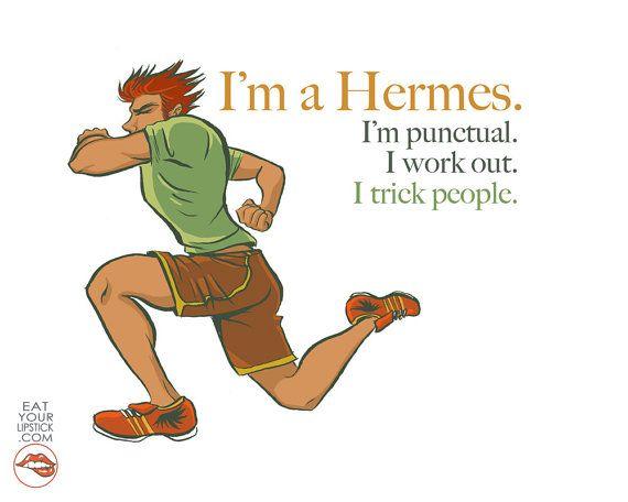 I'm a Hermes Greek God Art Print by LipsticKissPress on Etsy, $10.00