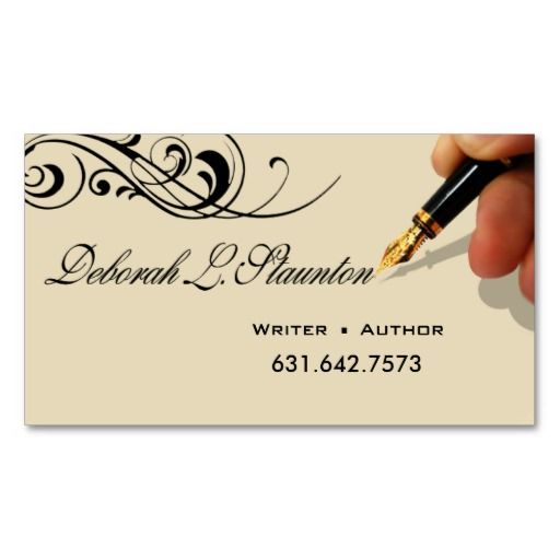 17 best images about letterhead examples on pinterest for Authors business cards