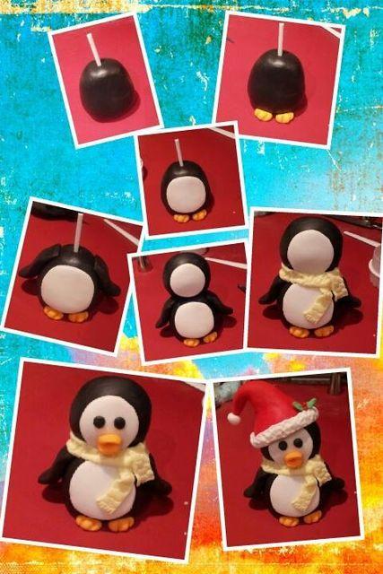 Christmas penguin tutorial - by timefortiffin @ CakesDecor.com - cake decorating website