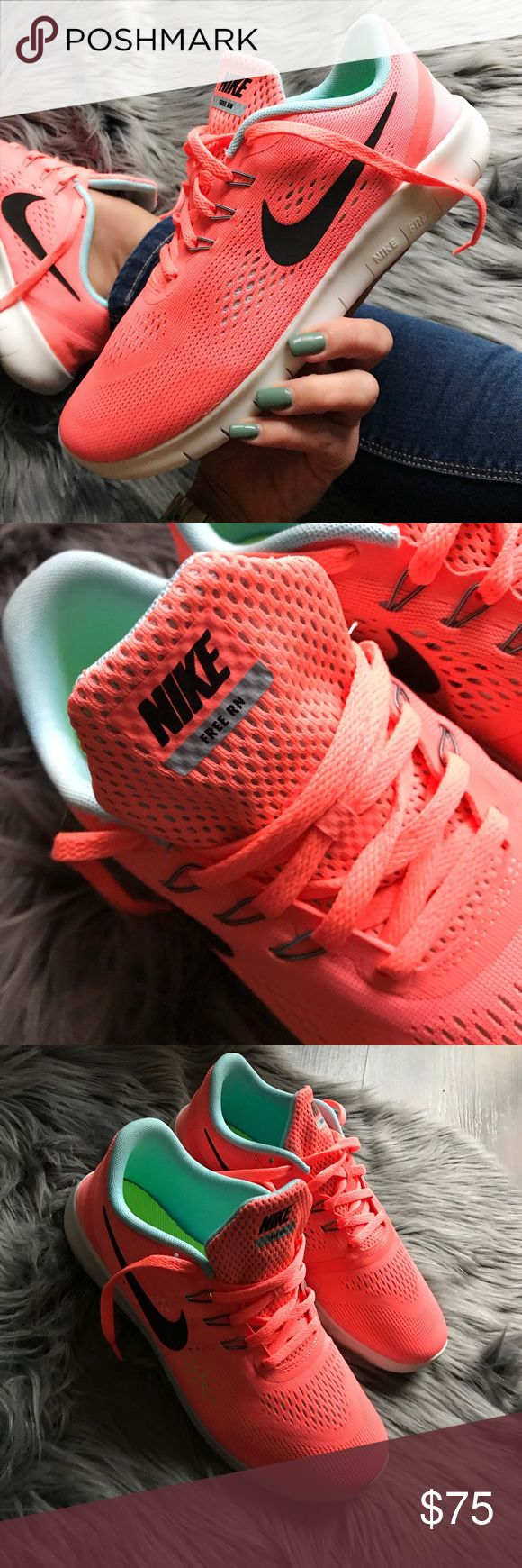 NEW 🍉 NIKE FREE RN FITS SIZE 7.5 WOMEN BRAND NEW, NIKE FREE! Cute, cozy & comfy NIKES | SCRUMPTIOUS WATERMELON! 🍉💦 Original NIKE box no lid.   ORDER YOUR WOMANS SHOE SIZE 🍉 6 y = 7.5 WOMEN  ALL SIZES LISTED ACCORDING TO NIKE'S SIZE CHART. 🍉  Ships same or next day from my smoke free home.   PRICED FIRM, offers will be considered through the offer button only. Bundle to save. 🍉💦  100% authentic & direct from NIKE Nike Shoes Athletic Shoes