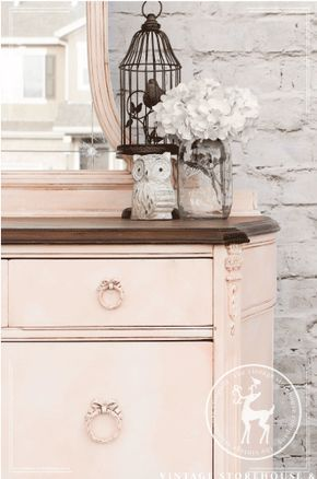 Pink Painted Dresser | Vintage Storehouse & Co.