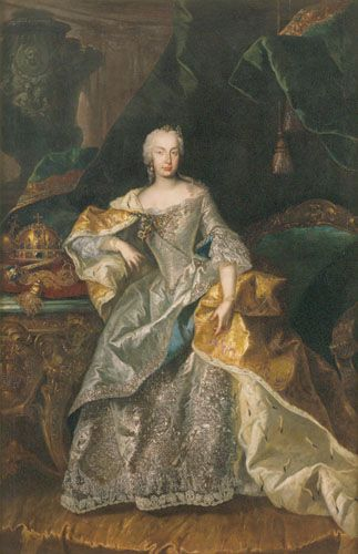 Viennese Painter, from the Circle of Johann Gottfried Auerbach Maria Theresa as the Queen of Hungary  1740-1741