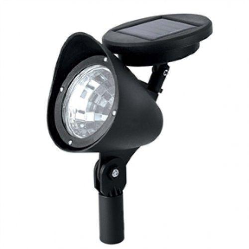 8 Pack - Solar Powered Outdoor LED Spot Light in Black