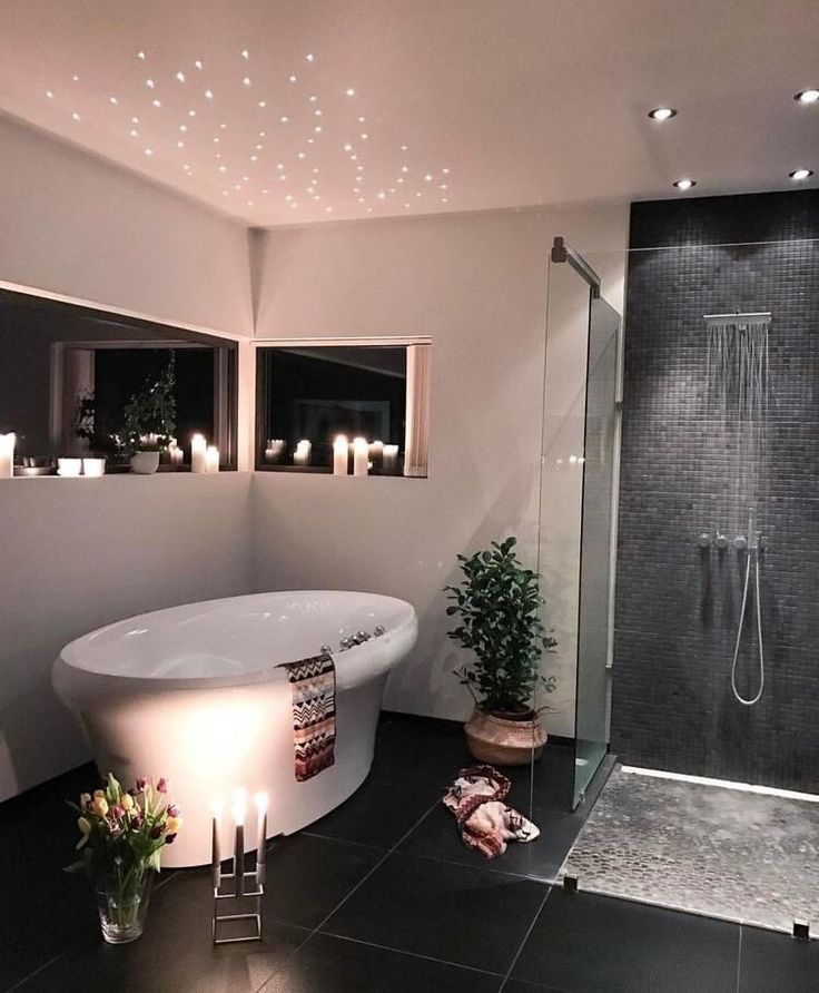 Starlight above tub