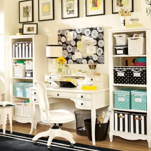 this dahlia lilac study room would help make studying more glamorous with pb teen lilac desk and hutch and bookcases