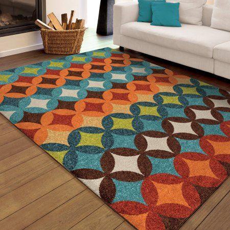 Orian Rugs Bright Colors Shapes Strawberry Fields Multi Area Rug - Walmart.com