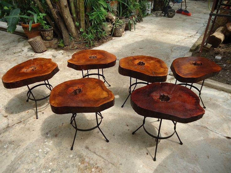 Muebles rústicos acero y madera (muy resistentes) (HAGALO USTED MISMO)