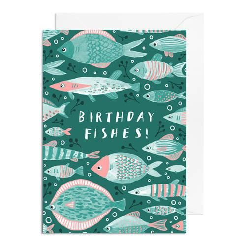Birthday Fishes Greetings Card - Papio Press