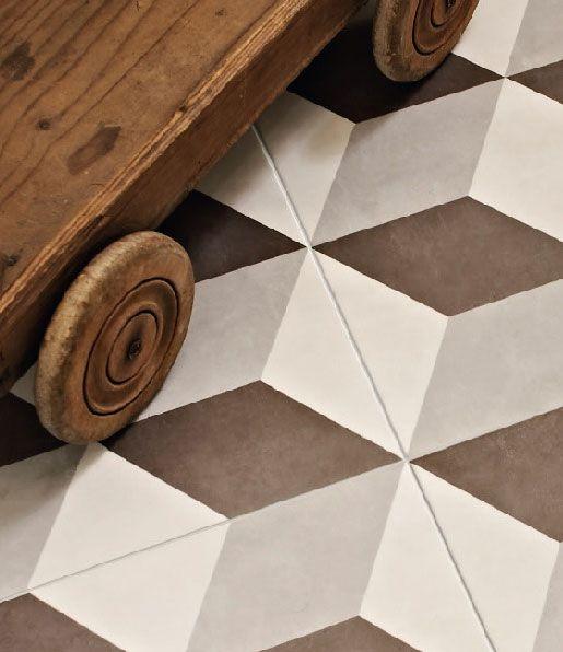 The Illusion Neutral Feature Floor Tile By British Ceramic