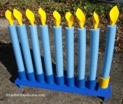 Swim Noodle Menorah - how much fun is this!?
