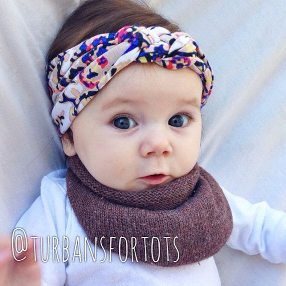 Cute turban! And a baby infinity scarf?! Get outta here with all that cuteness!!