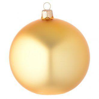 Palla vetro oro finitura satinata 100 mm | vendita online su HOLYART