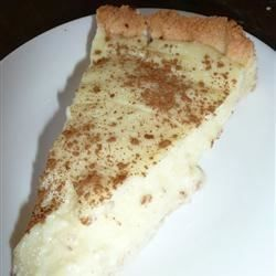 """My 'ouma' South African grandmother's legendary milk tart. It is lip-smacking. The recipe is a real winner. It is a traditional South African tart that is very easy to prepare."""