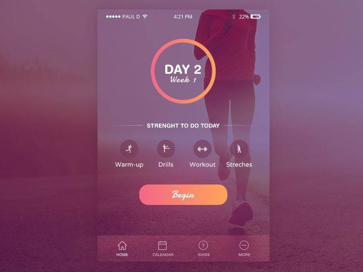 Fitness/Health App — Design Inspiration — Muzli -Design Inspiration