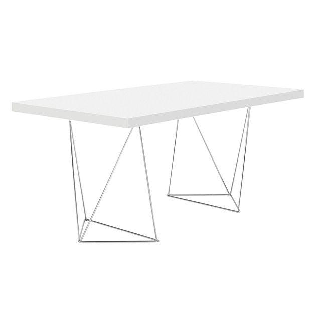 Geometric Trestle Table