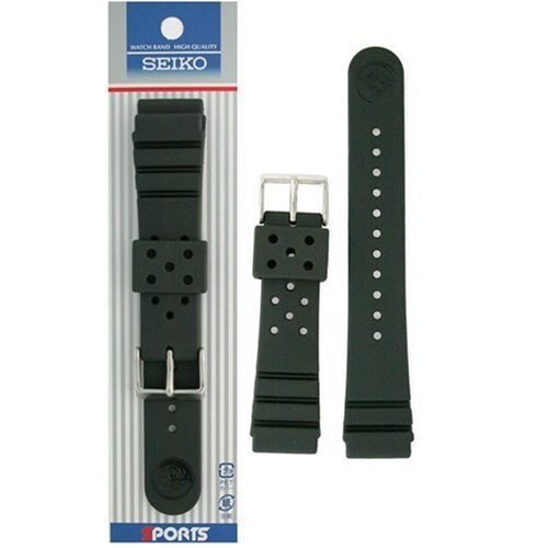Seiko Authentic Rubber Observe Band Original Packaging 22mm and Real Seiko Spring Bars