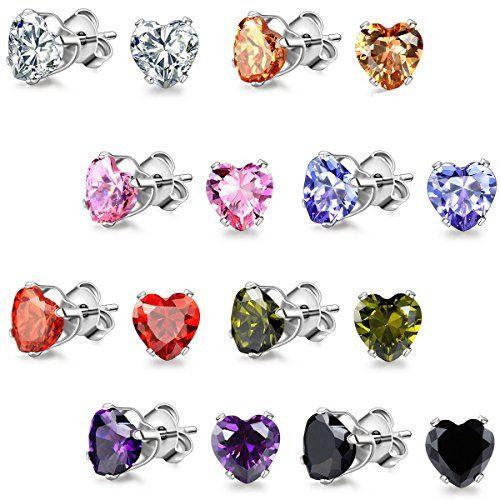 JewelryWe Gioielli orecchini da uomo donna 1.25 Ct cuore Cubic Zirconia acciaio inossidabile Multi-Colore (8 colori) in OFFERTA su www.kellieshop.com Scarpe, borse, accessori, intimo, gioielli e molto altro.. scopri migliaia di articoli firmati con prezzi da 15,00 a 299,00 euro! #kellieshop Seguici su Facebook > https://www.facebook.com/pages/Kellie-Shop/332713936876989