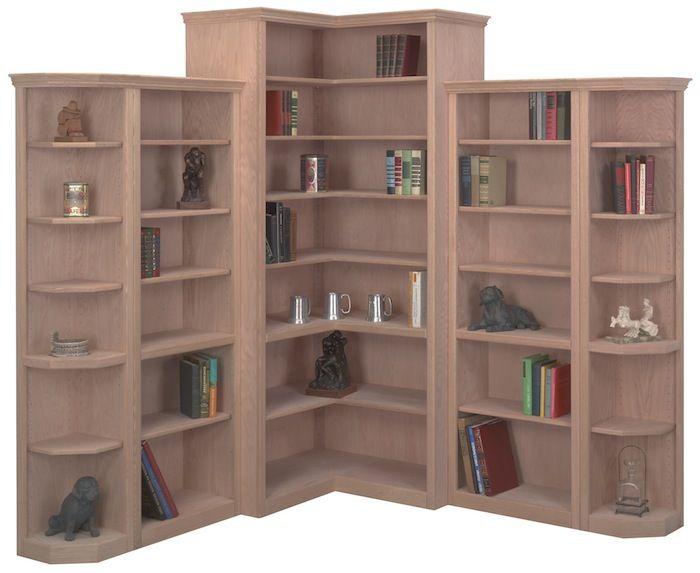 Giuseppa Book Self In 2019 Bookcase Wall Unit Bare Wood