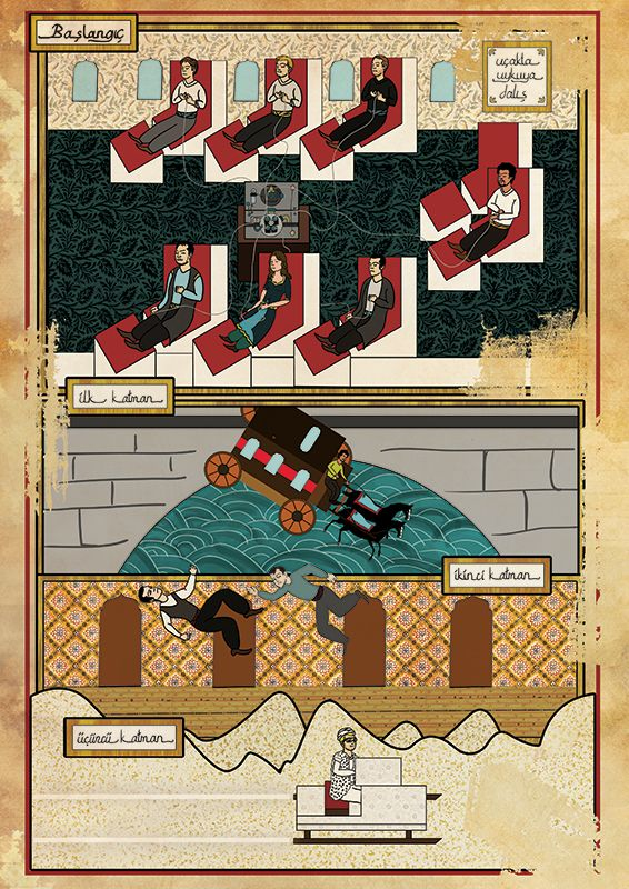 Classic Movies in Miniature Style by Murat Palta, via Behance.  Based on movie Inception
