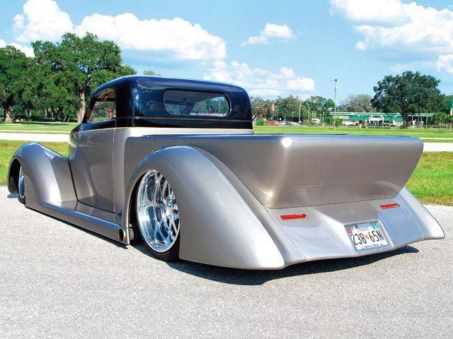 1937 Ford Custom Hot Rod Truck left Rear Angle
