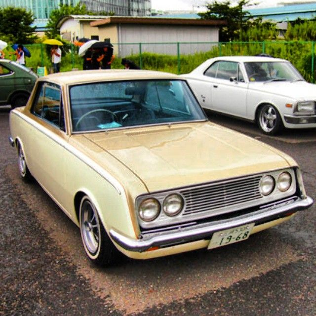 My mom's first car...she had a blue one when I was a kid. Toyota Corona