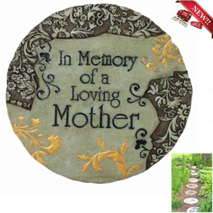 Stepping Stone Memory Mother Garden Plaque Walkway Outdoor Indoor Wall Decor Yar #Spoontiques