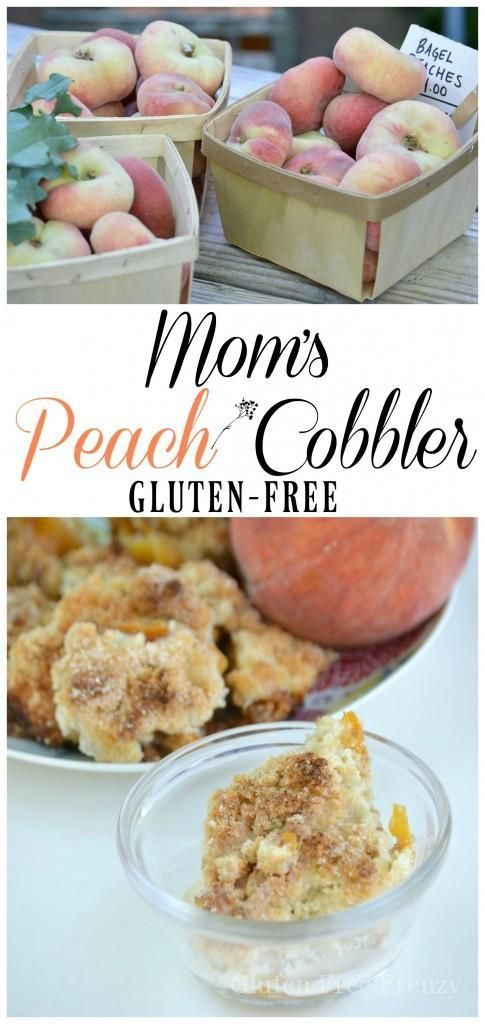 gluten-free peach cobbler so delicious nobody would ever know...