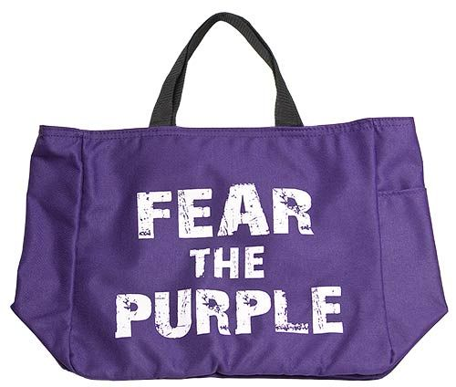 """""""Fear The Purple"""" Tote Bag.   OMG!  I need this bag!"""